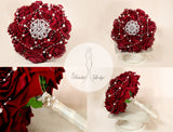 Red Bridal Bling Bouquet By T.B.L