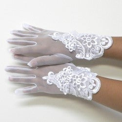 girls communion glove (sale)