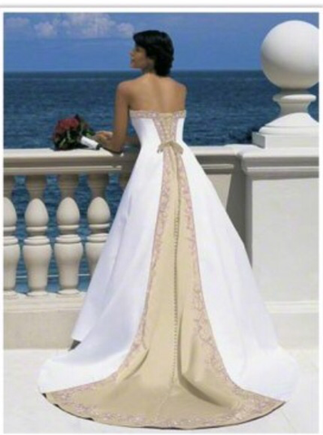 Ivory And Gold Wedding Gown ( Sample Sale)