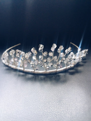 Clear/ metallic Swarovski  crystal tiara