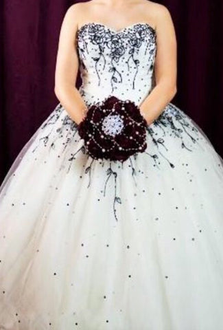 Britney Black And White tulle Bridal Gown (Sample Sale)