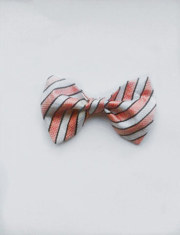 Pink and white Bow tie (SALE)