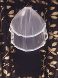 White Two Tier Veil ( Sale)