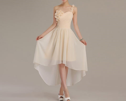 chiffon gown by Leah Rose  (online only)