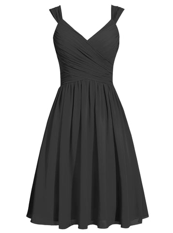 Black chiffon gown by Leah Rose  (online only) from €120