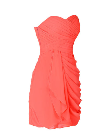 Coral Chiffon Gown By Leah Rose ( online only) from €120