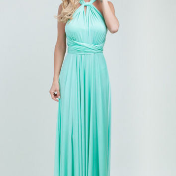 T.B.L Multiwrap Dress In Mint Green
