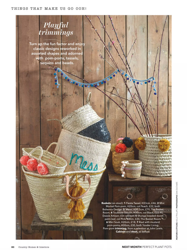 Fiesta Tassel Baskets