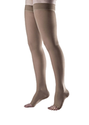 Jobskin Alleviant Thigh High Open Toe (with silicone top) - Class 3 (34-46mmHg)