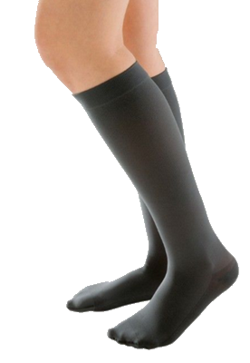 Juzo Attractive Below Knee Closed Toe With Silicone Border - Short length -  Class 1 (18-21mmHg)