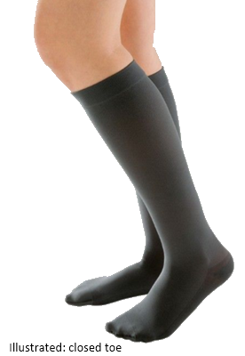 Juzo Attractive Below Knee Open Toe With Silicone Border - Short length -  Class 2 (23-32mmHg)