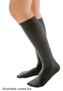 Juzo Attractive Below Knee Open Toe With Silicone Border - Short length -  Class 1 (18-21mmHg)