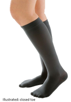 Juzo Attractive Below Knee Open Toe With Silicone Border - Extra Short length -  Class 2 (23-32mmHg)