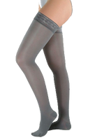 Juzo Attractive Thigh High Closed Toe With Silicone Border - Short Length - Class 1 (18-21mmHg)