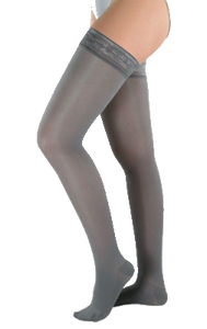 Juzo Attractive Thigh High Closed Toe With Silicone Border - Short Length - Class 2 (23-32mmHg)
