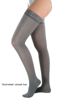 Juzo Attractive Thigh High Open Toe With Silicone Border - Short Length - Class 1 (18-21mmHg)