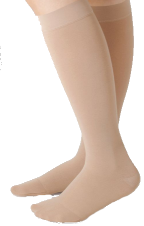 Juzo Dynamic Cotton Below Knee Closed Toe With Silicone Border - Extra Short Length - Class 2 (23-32mmHg)