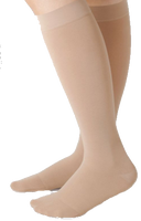 Juzo Dynamic Cotton Below Knee Closed Toe With Silicone Border - Extra Short Length - Class 1 (18-21mmHg)