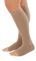 Juzo Dynamic Cotton Below Knee Open Toe With Silicone Border - Standard Length - Class 2 (23-32mmHg)