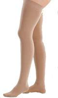 Juzo Dynamic Cotton Thigh High Closed Toe With Silicone Border - Short Length - Class 2 (23-32mmHg)