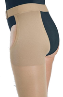 Juzo Dynamic Cotton Thigh High Closed Toe With Waist Attachment (Left) - Extra Short Length - Class 1 (18-21mmHg)