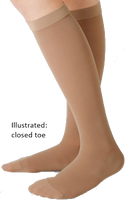 Juzo Hostess Below Knee Closed Toe With Silicone Border - Short length -  Class 2 (23-32mmHg)