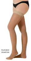 Juzo Hostess Thigh High Closed Toe With Wide Silicone Border - Short Length - Class 1 (18-21mmHg)