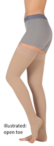 Juzo Soft Thigh High Closed Toe With Silicone Border - Standard Length - Class 1 (18-21mmHg)