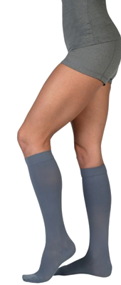 Juzo Soft Below Knee Closed Toe With Silicone Border - Short length -  Class 1 (18-21mmHg)