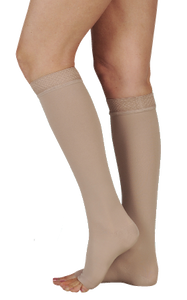 Juzo Soft Below Knee Open Toe - Extra Short length -  Class 2 (23-32mmHg)