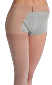 Juzo Soft Thigh High Closed Toe With Waist Attachment (Right) - Extra Short Length - Class 1 (18-21mmHg)