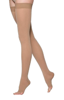 Sigvaris Comfort Thigh High Open Toe Without Grip Top - Normal Length - Class 2 (23-32mmHg)