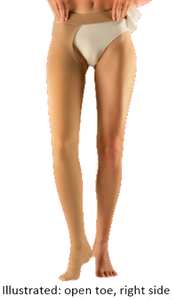 Sigvaris Comfort Thigh High Closed Toe With Waist Attachment On Left - Long Length - Class 2 (23-32mmHg)
