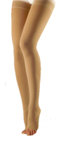 Sigvaris Cotton Thigh High Open Toe With Sensinnov Grip Top - Class 1 (18-21mmHg)