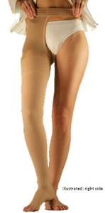 Sigvaris Traditional 504 Thigh High With Waist Attachment on Right - Class 3 (34-46mmHg)
