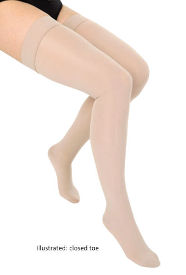 Haddenham Veni Thigh High Open Toe (with grip top) - Class 1 (18-21mmHg)