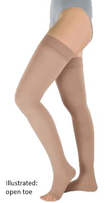 Venotrain Soft Thigh High Plus Closed Toe With Dotted Silicone Top Band - Class 2 (23-32mmHg)