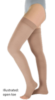 Venotrain Soft Thigh High Open Toe With Dotted Silicone Top Band - Class 2 (23-32mmHg)
