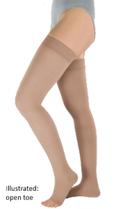 Venotrain Soft Thigh High Plus Open Toe With Dotted Silicone Top Band - Class 1 (18-21mmHg)