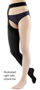 Venotrain Soft Thigh High With Waist Attachment Closed Toe, Right Side - Class 2 (23-32mmHg)