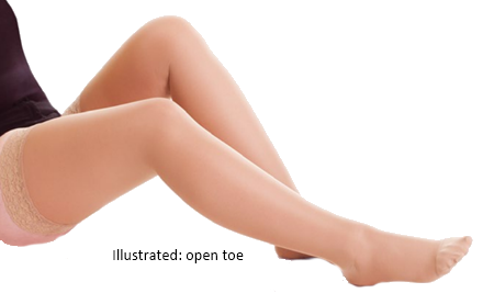 Altiven Hold-up Stockings Open Toe (extra wide) - Class 1 (18-21mmHg)
