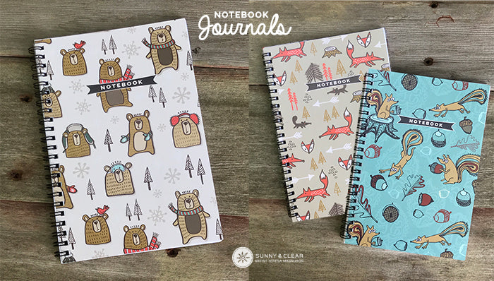 notebook journals by sunny & clear artist teresa magnuson