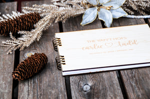 wedding guest book rustic in modern designs, custom, personalized, for the holidays