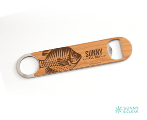 fish bottle opener by sunny and clear artist Teresa Magnuson