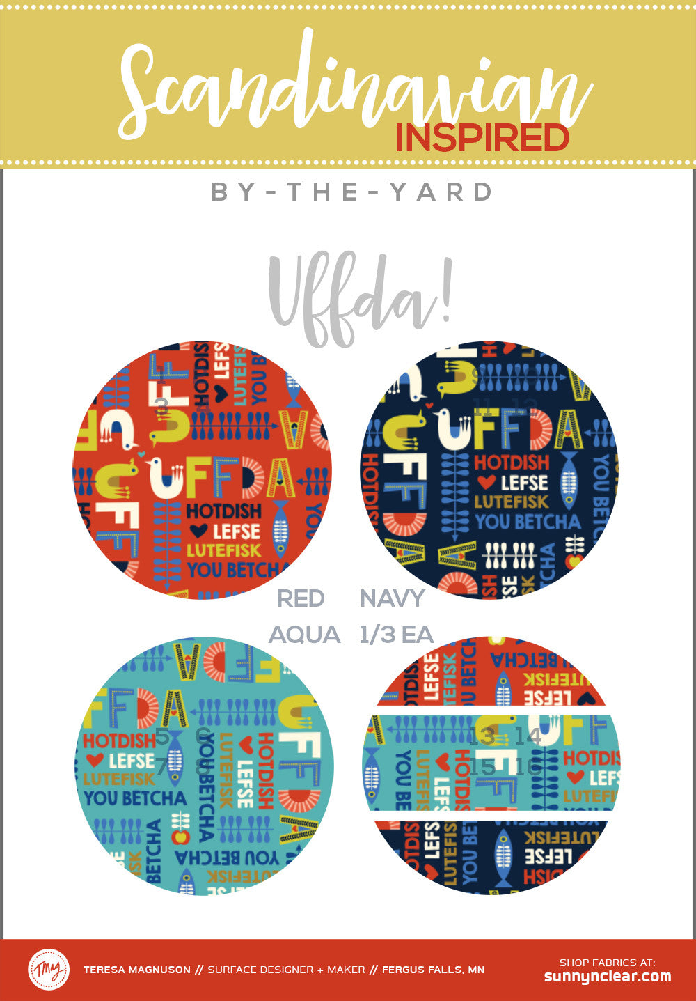 By-the-Yard - Scandinavian Uffda Fabric