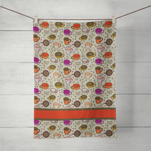 Load image into Gallery viewer, Cuppa Joe tea towel with coffee motifs, by Teresa Magnuson