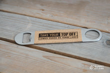 Load image into Gallery viewer, Custom Bottle Opener, Cork, Lake or Town, Laser Engraved, 7in