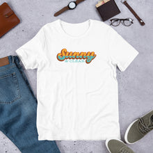 Load image into Gallery viewer, T-Shirt Short-Sleeve Unisex- WHITE- Sunny & Clear retro