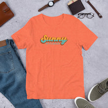 Load image into Gallery viewer, T-Shirt Short-Sleeve Unisex HEATHER ORANGE Sunny & Clear retro