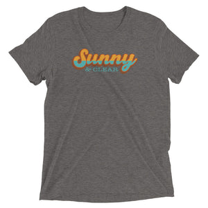 T-Shirt Short sleeve Unisex - TRI-BLEND HEATHER GRAY- Sunny & Clear retro